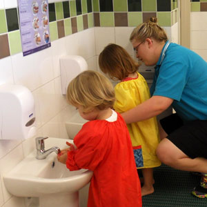 child care toilet training & hand washing