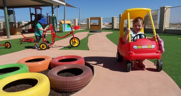 Child Care Centre bikes and cars