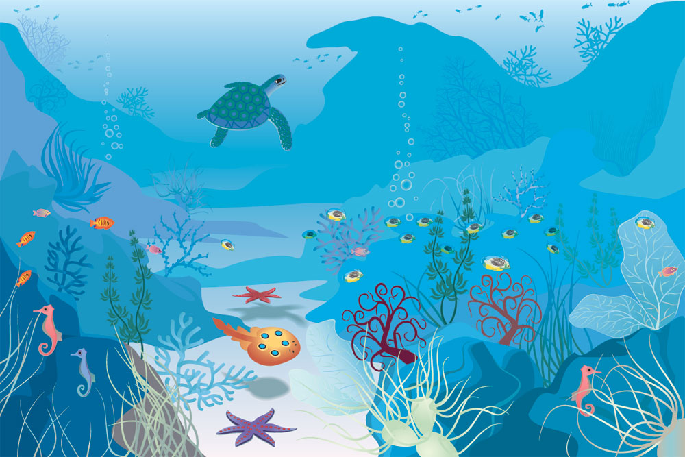 Under sea illustration
